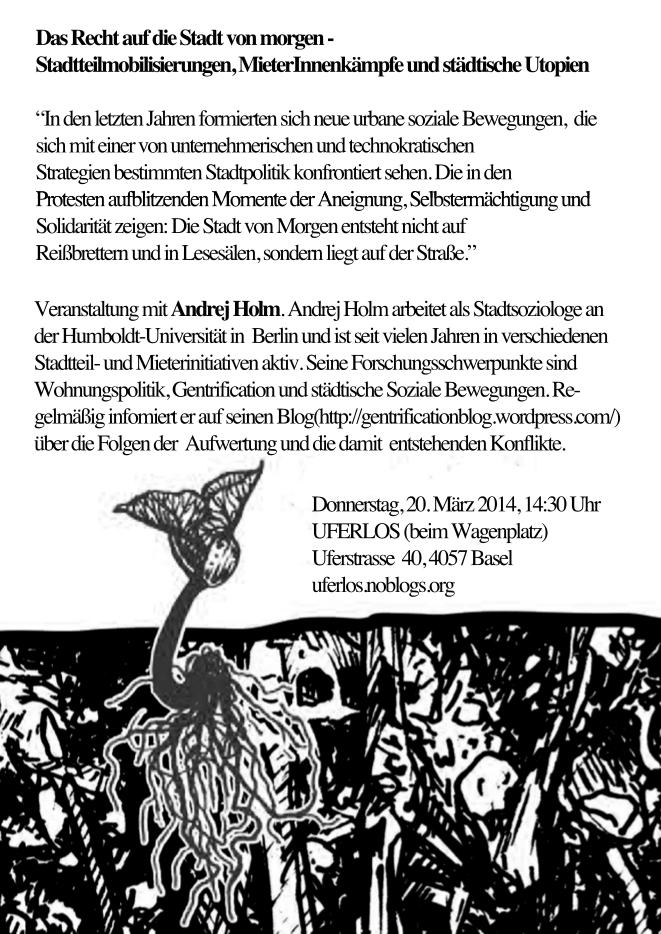 Veranstaltung mit Andrej Holm